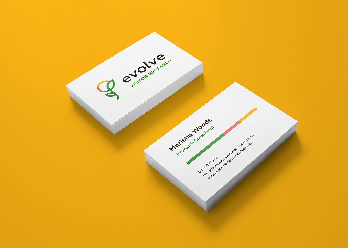 Evolve Visitor Research | Business Card Design